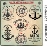 sailor design collection | Shutterstock .eps vector #109995434