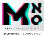 vector typeset design. neon... | Shutterstock .eps vector #1099974710