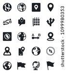 set of vector isolated black... | Shutterstock .eps vector #1099980353
