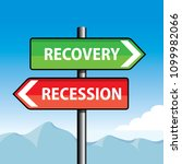 recovery and recession road... | Shutterstock .eps vector #1099982066