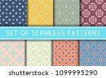 geometric seamless patterns.... | Shutterstock .eps vector #1099995290