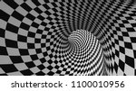 vector optical illusion black... | Shutterstock .eps vector #1100010956