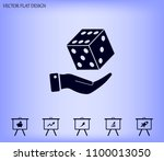 cubes for the game vector icon. | Shutterstock .eps vector #1100013050