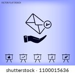 mail envelope on the hand  mail.... | Shutterstock .eps vector #1100015636
