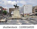 ataturk heykel square ulus... | Shutterstock . vector #1100016020
