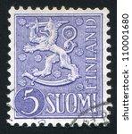 finland   circa 1954  stamp... | Shutterstock . vector #110001680