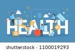 health concept illustration.... | Shutterstock .eps vector #1100019293