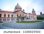 belfast city hall in northern... | Shutterstock . vector #1100025503