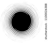 spiral element. abstract swirl  ... | Shutterstock .eps vector #1100026388