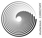 spiral element. abstract swirl  ... | Shutterstock .eps vector #1100027699