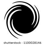spiral element. abstract swirl  ... | Shutterstock .eps vector #1100028146