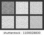 memphis geometric pattern set.... | Shutterstock . vector #1100028830