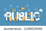 public concept illustration.... | Shutterstock .eps vector #1100029040