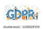 gdpr concept illustration. idea ... | Shutterstock .eps vector #1100029193