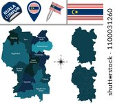 vector map of kuala lumpur with ... | Shutterstock .eps vector #1100031260