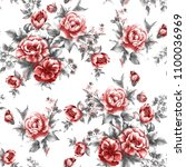 beautiful raster pattern with... | Shutterstock . vector #1100036969