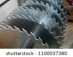 metal silver circular saw...   Shutterstock . vector #1100037380