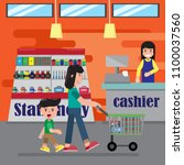 back to school  shopping school ...   Shutterstock .eps vector #1100037560