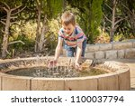 happy cute caucasian kid...   Shutterstock . vector #1100037794