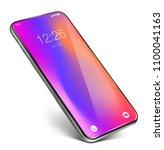 smartphone frame less... | Shutterstock .eps vector #1100041163