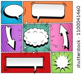 comic book colorful background... | Shutterstock .eps vector #1100041460
