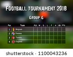 football results table.... | Shutterstock .eps vector #1100043236