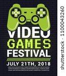 poster of video game festival....   Shutterstock .eps vector #1100043260