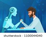 vector cartoon human... | Shutterstock .eps vector #1100044040