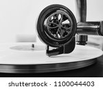 playing the platinum record | Shutterstock . vector #1100044403