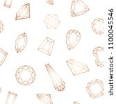seamless diamond pattern with... | Shutterstock .eps vector #1100045546