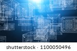 a high tech 3d illustration of... | Shutterstock . vector #1100050496