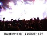 defocused entertainment concert ... | Shutterstock . vector #1100054669