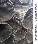 stainless steel perforated tube | Shutterstock . vector #1100054936