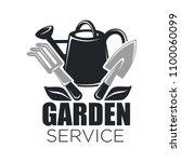 gardening service vector icon... | Shutterstock .eps vector #1100060099