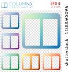 columns geometric polygonal... | Shutterstock .eps vector #1100063096