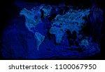 schematic view of global ocean... | Shutterstock . vector #1100067950
