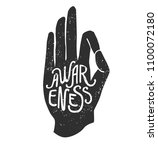 awareness. vector illustration...   Shutterstock .eps vector #1100072180