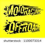 off road moto racing. unique... | Shutterstock .eps vector #1100073314