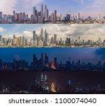 morning afternoon evening night.... | Shutterstock . vector #1100074040