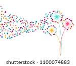 cyan pink yellow vector... | Shutterstock .eps vector #1100074883