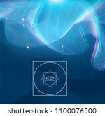 abstract hologram wave... | Shutterstock .eps vector #1100076500