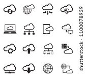 cloud computing icons. black... | Shutterstock .eps vector #1100078939
