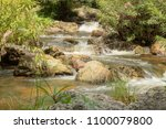 khlong lan waterfall  beautiful ... | Shutterstock . vector #1100079800