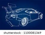 sports car. stock illustration...   Shutterstock .eps vector #1100081369