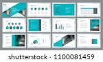 business presentation template... | Shutterstock .eps vector #1100081459