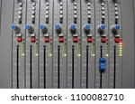 professional sound control panel | Shutterstock . vector #1100082710