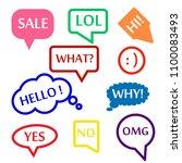 speech bubble icon set | Shutterstock .eps vector #1100083493