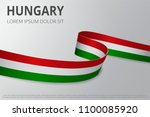 flag of hungary background.... | Shutterstock .eps vector #1100085920