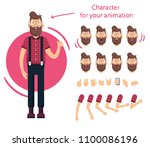 man character for your scenes... | Shutterstock .eps vector #1100086196