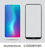 smartphone mockup white and... | Shutterstock .eps vector #1100089280